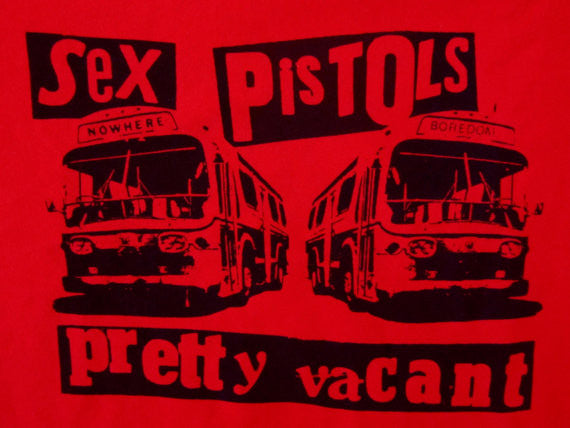 Sex Pistols Pretty Vacant - Red Sweatshirt - Punk Multi-print Sweater XL