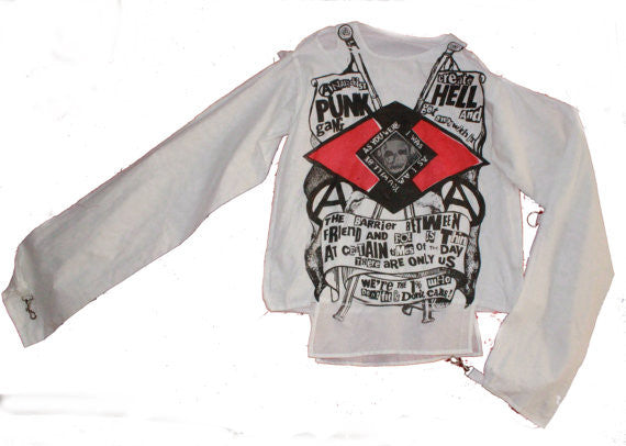 "Punk Gang Bondage Shirt Anarchist Straight Jacket- XSm 32-34""- new"