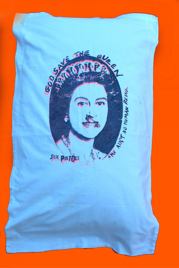 God Save The Queen -Punk Pillowcase