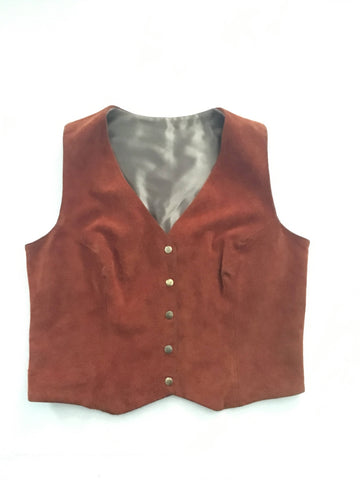 Vintage Brown Genuine Suede Vest