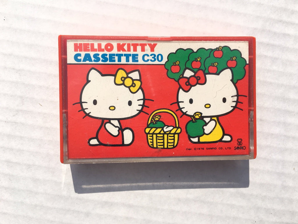 Vintage Hello Kitty Cassette Tape 1976 - Sanrio Japan -Music Memorabilia Collectible Kitsch