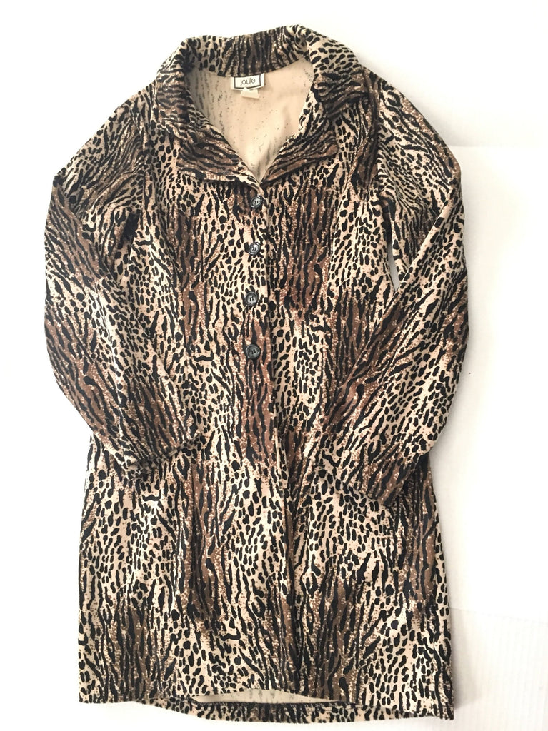 Vintage trench coat faux fur leopard print jacket - trenchcoat  womens retro cheetah animal pattern winter outerwear - fashion