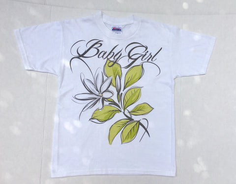 Baby Girl Vintage tshirt - novelty diamante pastel bootleg vacation tee - white slogan  t shirt M