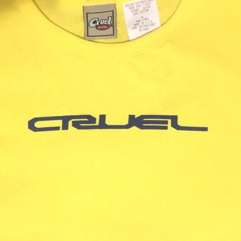Cruel Girl tank top - bright yellow crop T-shirt - original tags