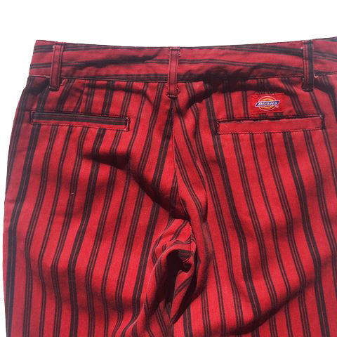 Vintage Dickies Red Pinstripe Denim Jeans