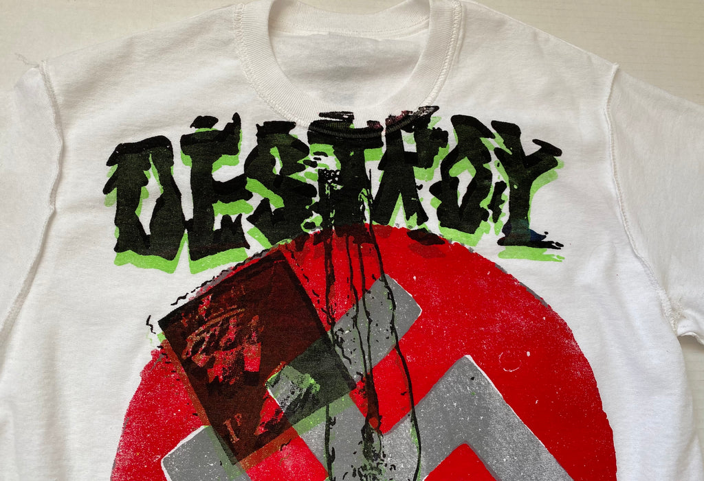 Seditionaries DESTROY T Shirt Anarchy Punk inside-out Small unisex