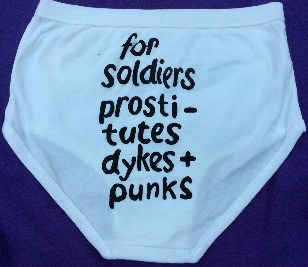 Seditionaries Y-Fronts- For Soldiers, Prostitutes, Dykes & Punks- Underpants L- XL