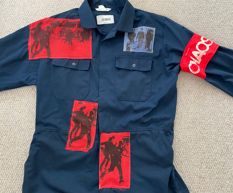 "The Clash Punk Brixton Riots prints Alternative Boiler Suit - Stage Outfit -Large 45"" chest"