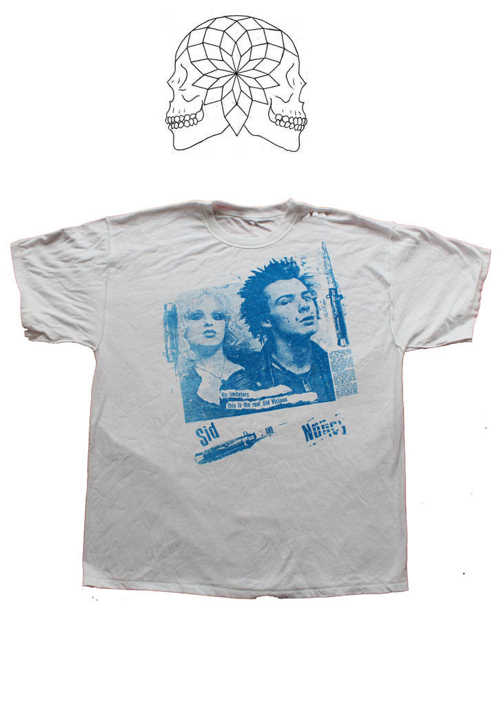 Sid Vicious and Nancy 'No Imitators' Punk T-shirt - White
