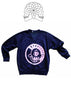Retro Japanese Punk Rock Laughin Nose V Neck Navy Sweater Ex Small 32""