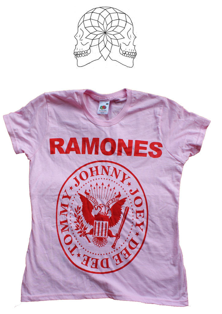 Ramones Punk band vintage T-shirt - Light Pink