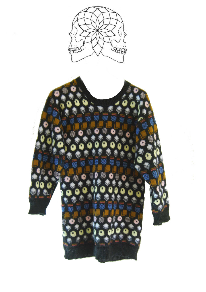 Vintage 1990s Liquorice Allsorts Knitted Sweater