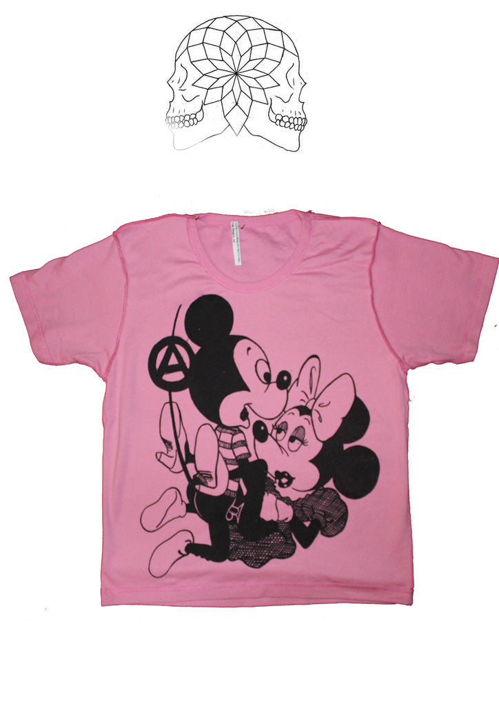 Mickey and Minnie SEX - Seditionaries Punk T-shirt -Pink