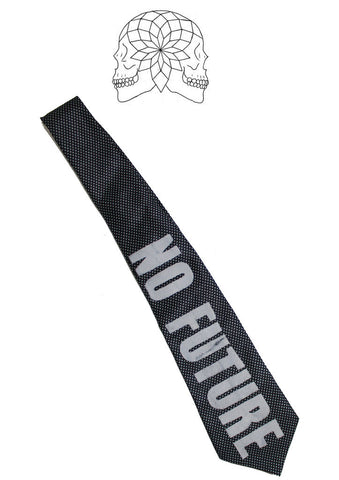 Punk No Future Sex Pistols Printed Neck Tie
