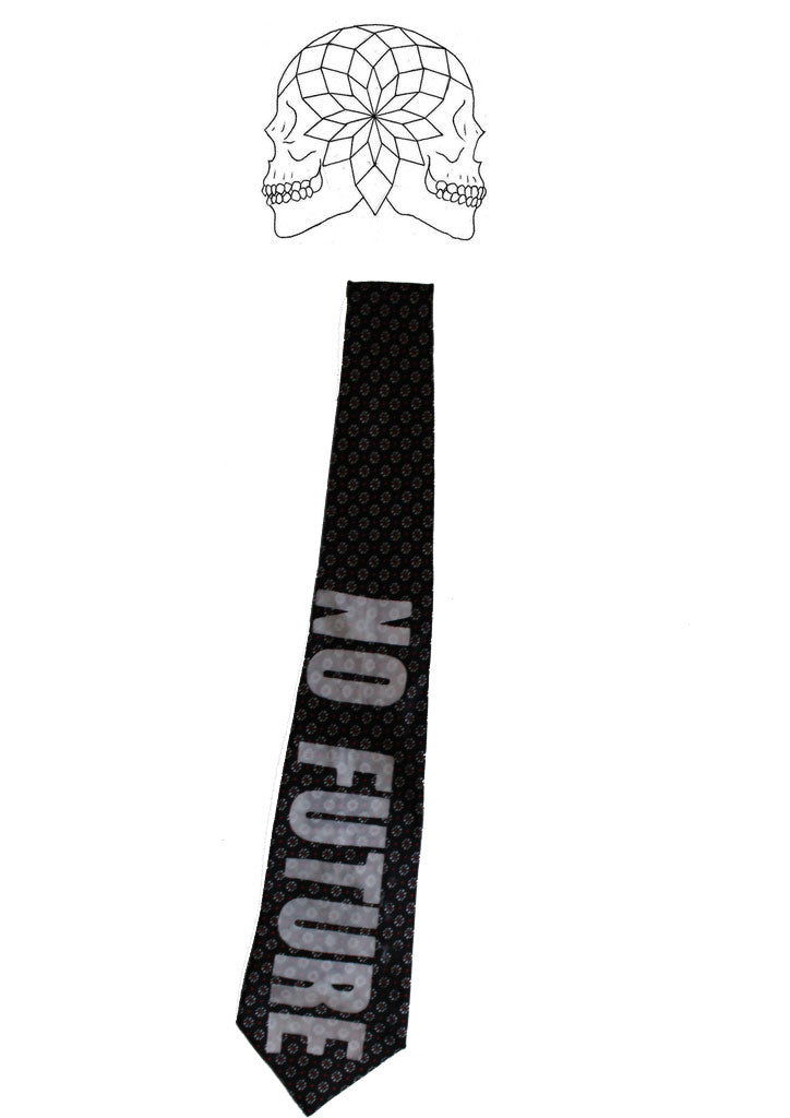 Punk No Future Printed Neck Tie