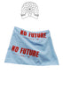 No Future Printed Blue Sporty Skirt