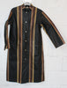 Vintage 1960's Marimekko Raincoat - Brown Black Pinstripe