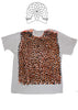Leopard Print T-shirt - Orange Black