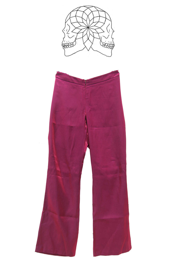 Vintage Metallic Pink Trousers
