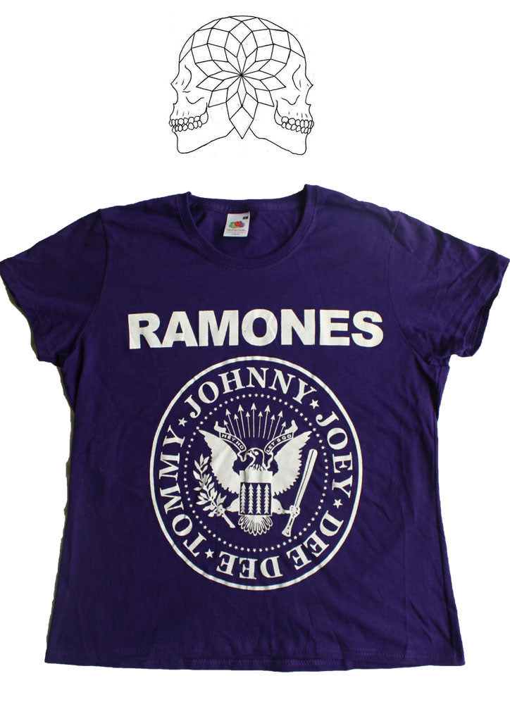 Ramones Punk band vintage T-shirt -Purple