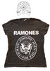Ramones Punk band vintage T-shirt -Grey