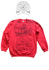 Seditionaries Punk Dickens Sweatshirt Oliver Twist print Red Sweater