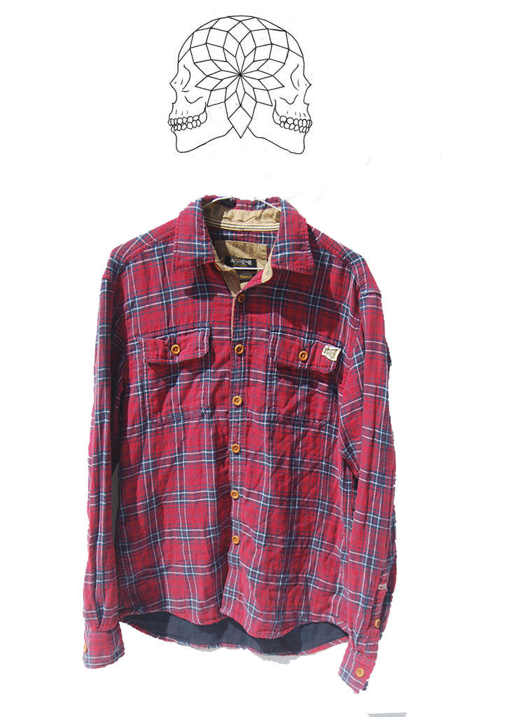 Vintage Red Plaid Lumberjack Shirt