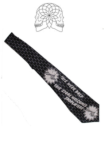 Punk Shoplifters Novelty Slogan Neck Tie