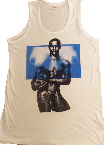 Naked Footballer and Tits print Vest