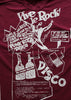 Vive Le Rock -Anarchist cookbook Punk T-shirt - Burgundy