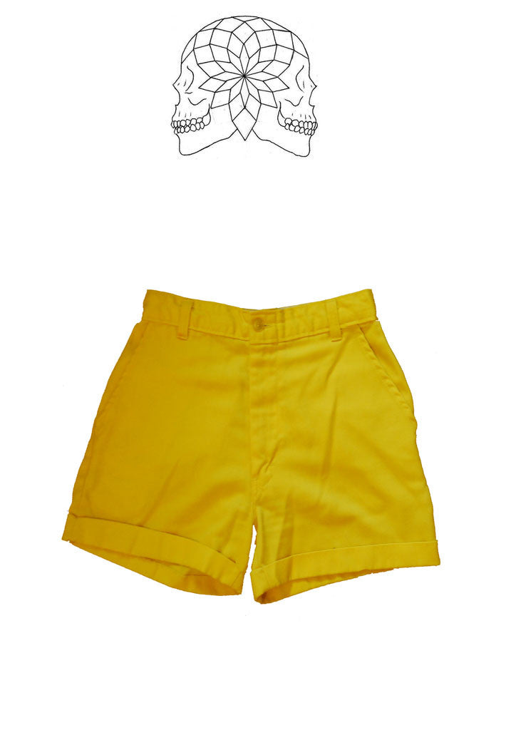 Vintage Bright Yellow Shorts