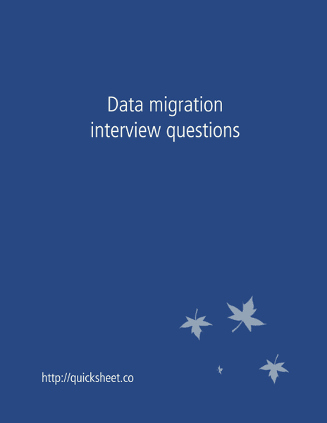 data migration interview questions  u2013 interviewsteps