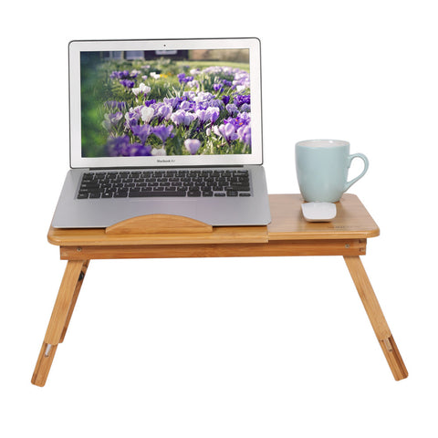 Portable Bamboo Rack Shelf Dormitory Bed Lap Desk Book Reading Tray Bed Table For Computer Notebook Books