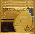 5 Piece: Gold Bio-Collagen Facial Mask [Crystal Gold Powder Collagen Facial Mask Moisturising Anti-Aging]