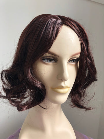 Dark Auburn Natural Looking Full Head Wig