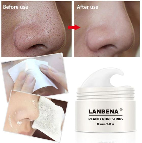 LANBENA 30g 60pce Blackhead Remover Nose Mask Pore Strip Black Mask Peeling Anti Acne Treatment Black Deep Cleansing Skin Care