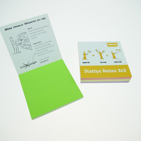 "Stattys Notes <br>set of 4<br>(3"" x 3"")"
