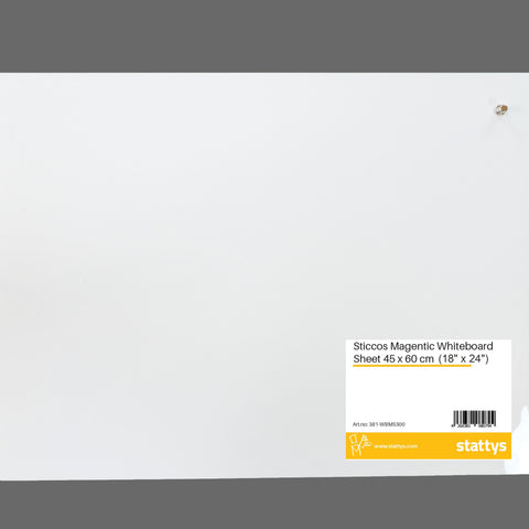 "Sticcos Magnetic Whiteboard Sheet <br> (18"" x 24"")"
