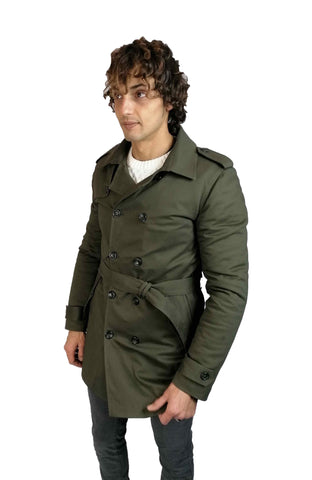Trench imbottito OVER-D verde