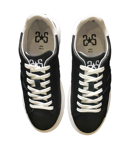 Image of Scarpe uomo 2 star Torino sneakers sportiva shoes nere online shop
