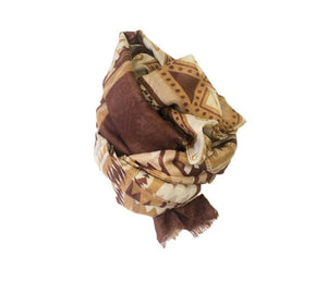 Pashmina OUTFIT geometric brown