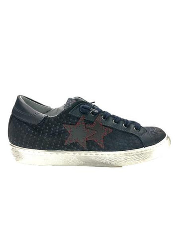 Image of Scarpe uomo 2 star Torino shoes blu saldi shop online outlet