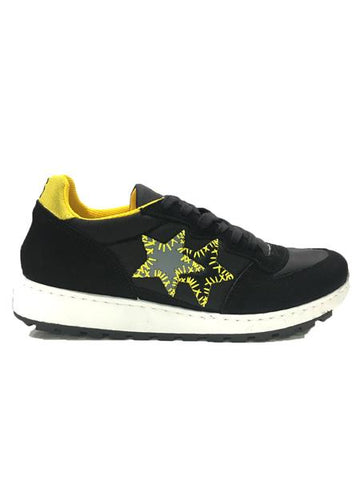 Image of Scarpe uomo 2 star Torino sneakers shoes saldi running nere gialle shop online