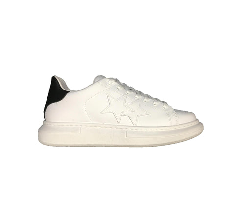 Image of Scarpe uomo 2 star Torino sneakers sportiva shoes bianca saldi outlet online shop