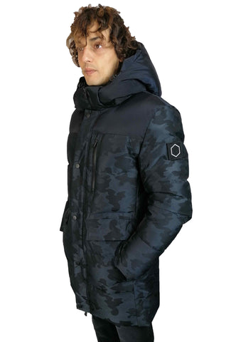 Image of Parka Hox uomo giubbotto camouflage lungo giacca in piuma d'oca shop online impermeabile Torino