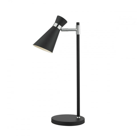 Ashworth Black And Polished Chrome Table Lamp