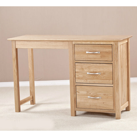 Ashton Oak Single Pedestal Dressing Table