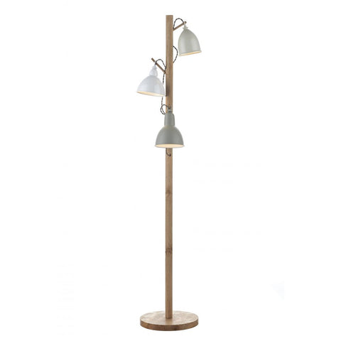 Blyton White And Wood Floor Lamp