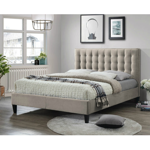 Belmont Upholstered Fabric Bed Champagne