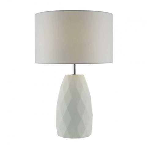 Ciara White Plaster Table Lamp